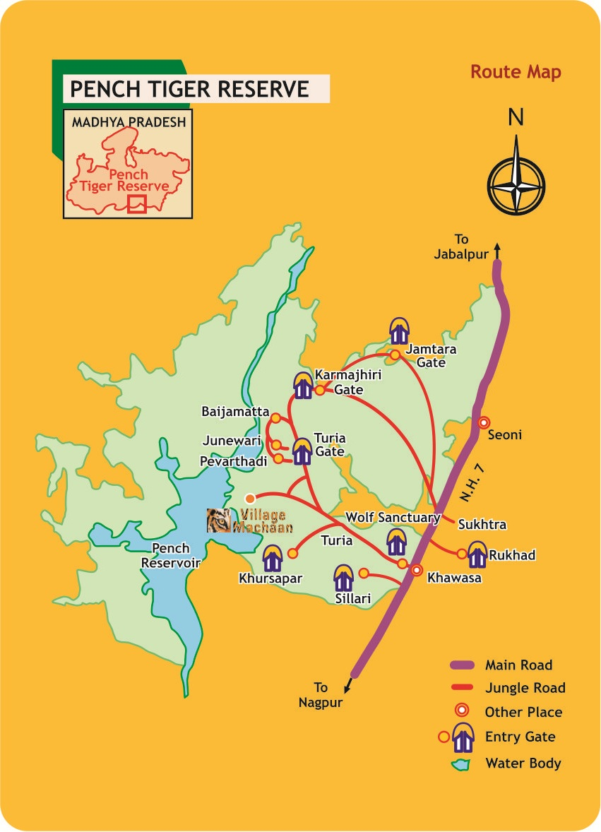 Map - Pench National Park